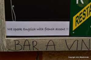 Funny sign in France