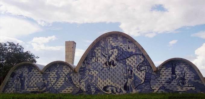 Niemeyer's modernist church of São Francisco in Pampulha