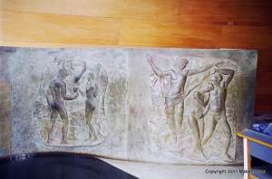 Copper panels depicting the Fall, church of São Francisco in Pampulha