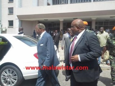 Muluzi Leaving the Court Last Thursday