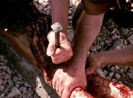 Nails were Driven through His Feet