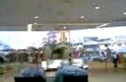 Mysterious Figure Running Fast at a Shopping Mall Accident
