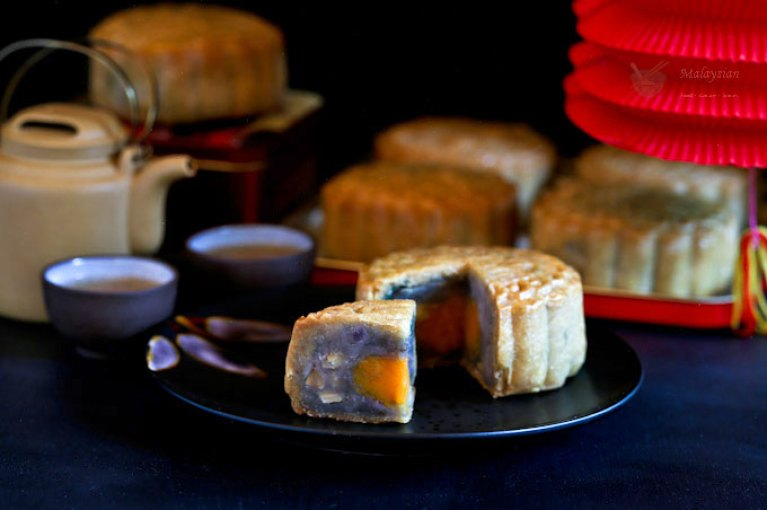 Image result for purple yam mooncake