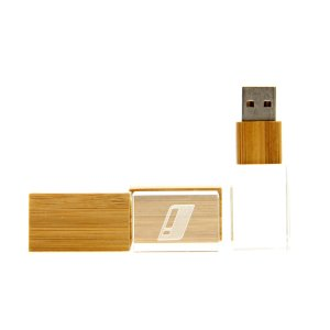 CY02 Wooden Crystal USB Flash Drive