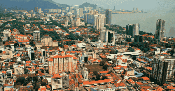 George Town in Penang, Malaysia