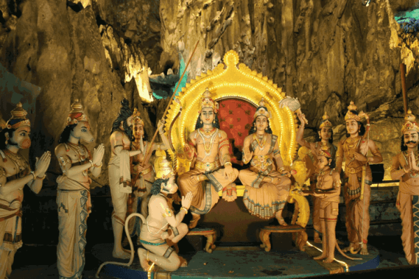 Limestone Caves and the Hindu temple at Batu Caves
