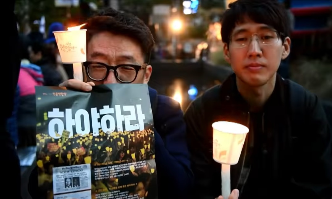 south korea mass rally against Park