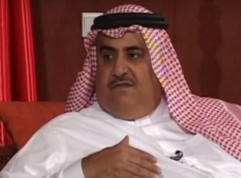 Bahrains Foreign Minister Khalid bin Ahmed al Khalifa
