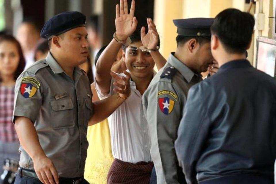 Reuters journalist Kyaw Soe Oo arrives at Insein court in Yangon Myanmar September 3 2018. REUTERS