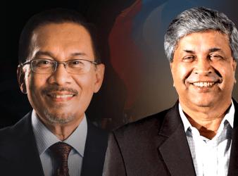 anwar ibrahim and Danyal Balagopal Abdullah
