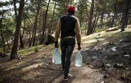 A freshwater source nearby offers some respite from the hardships these migrants face in the forest. The water is used for drinking as well as cooking food. Al Jazeera