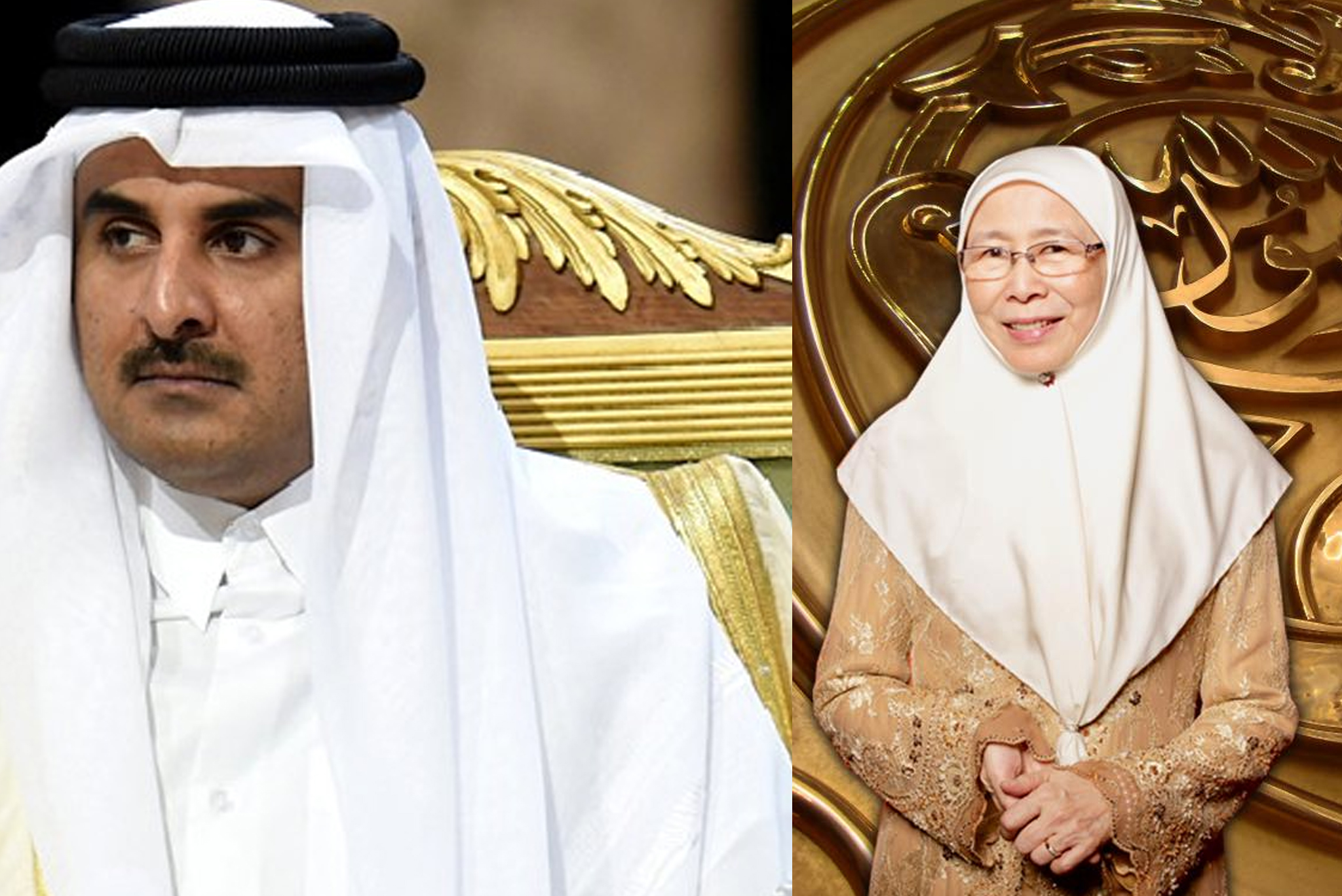 wan azizah qatar emir