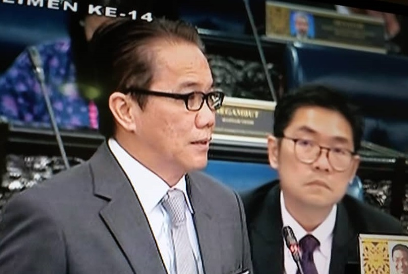 Minister in the Prime Ministers Department Datuk Liew Vui Keong answering questions on Sediton Act at Dewan Rakyat today.