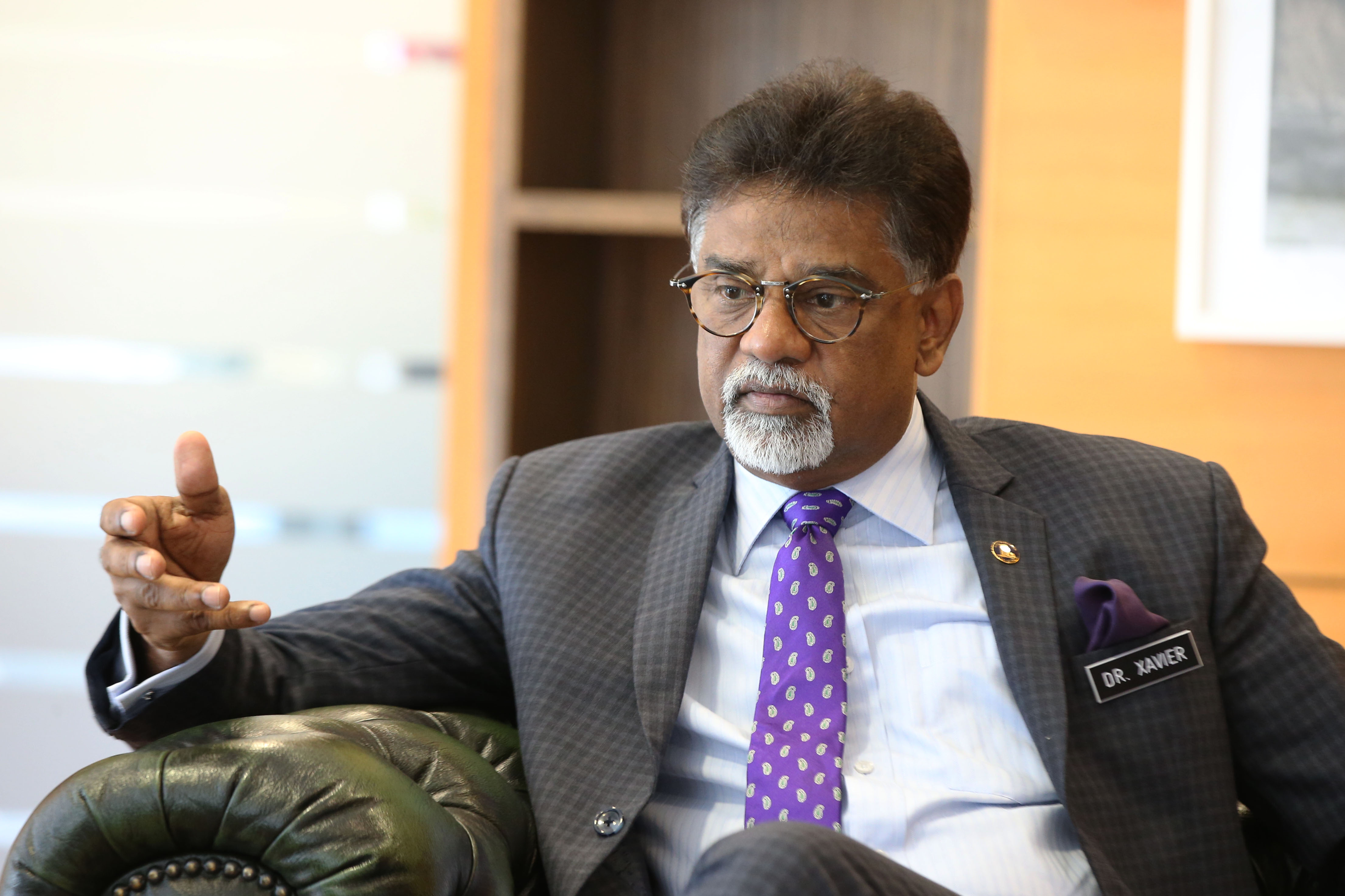 Water Land and Natural Resources Minister Dr Xavier Jayakumar speaks to Malay Mail at his office in Putrajaya July 24 2018