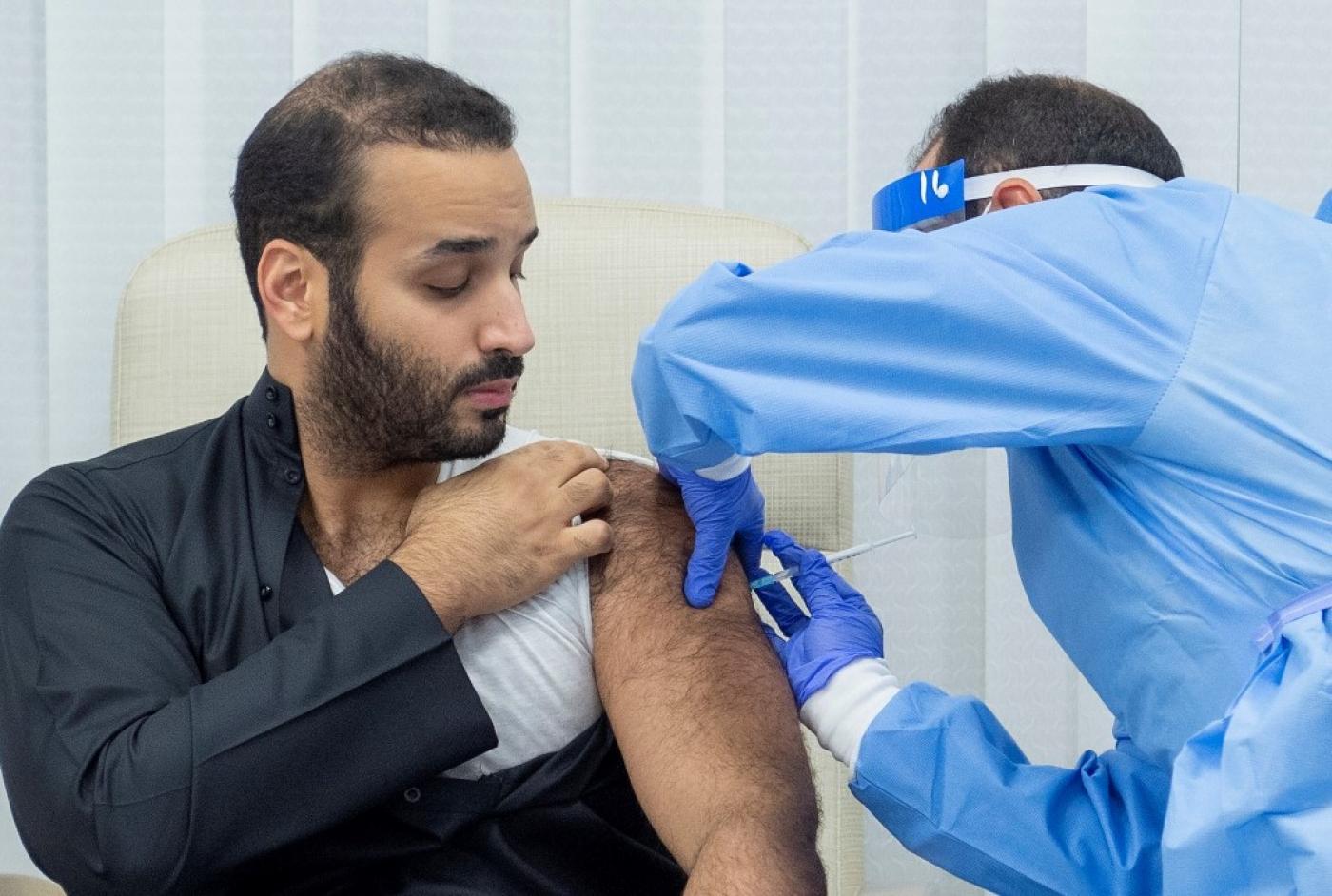 mbs saudi crown prince covid vaccine afp