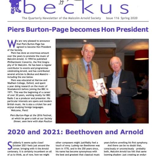 Beckus 116 Malcolm Arnold Society