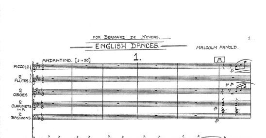 Malcolm Arnold's score ot the English Dances
