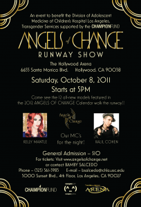 Angels of Change flyer, Los Angeles event