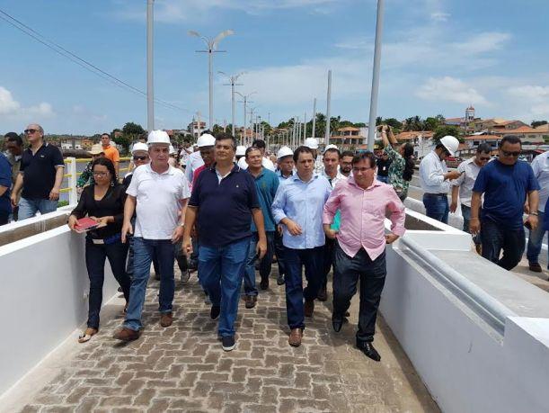 Luis Fernando com o governador Flávio Dino durante visita ao Cais e IEMA