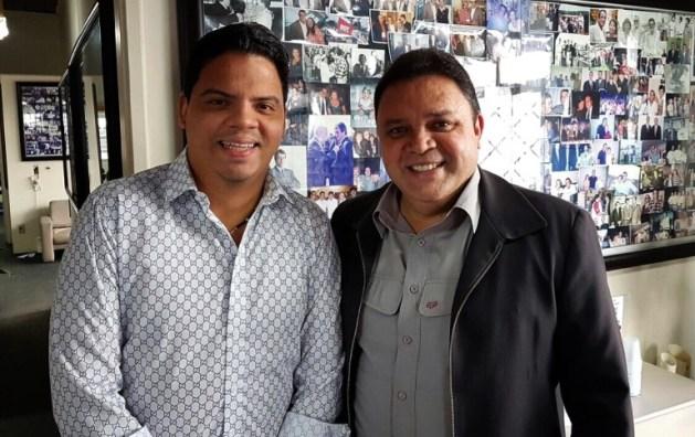 Prefeito Luciano Genésio ao lado do Deputado Estadual Marcus Damásio.