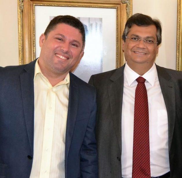 Hernando Macêdo e Flávio Dino.,