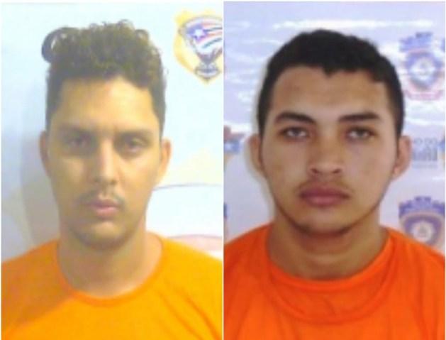 Victor Lucci (à direita) e Ildomarques Lopes (à direita) fugiram da UPSL 5 nesta quarta-feira (19)