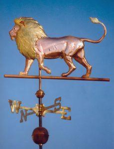 lion weather vane
