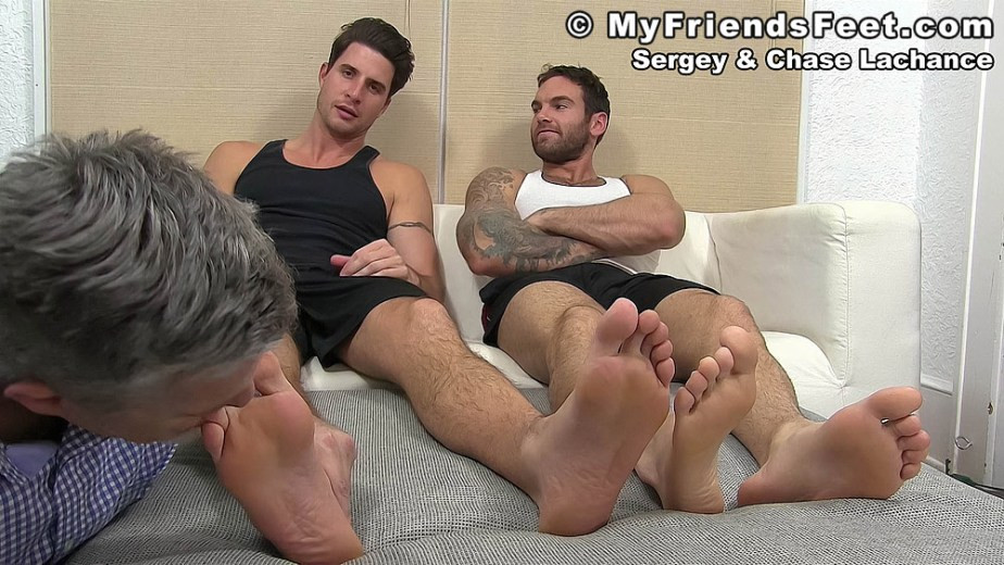 Sergey's large toes get sucked by his foot slave - My Friends' Feet