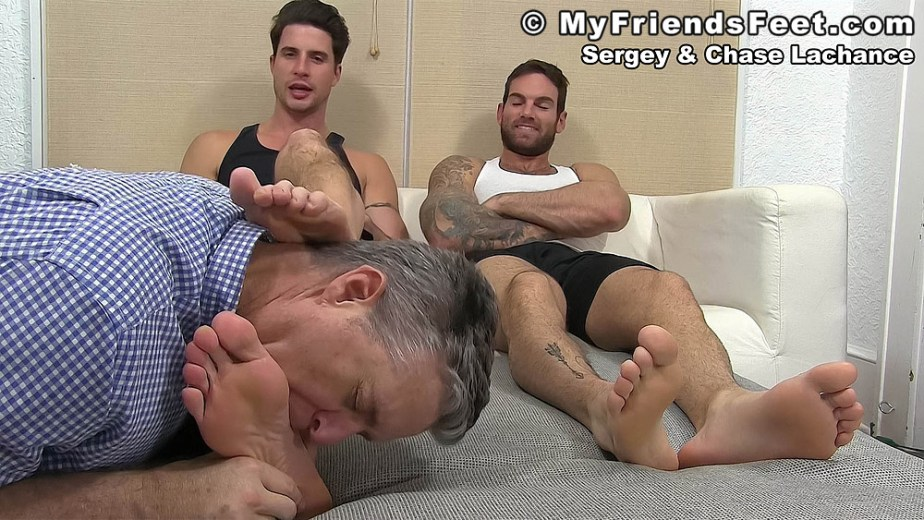Sergey's feet get worshiped by his foot slave - My Friends' Feet