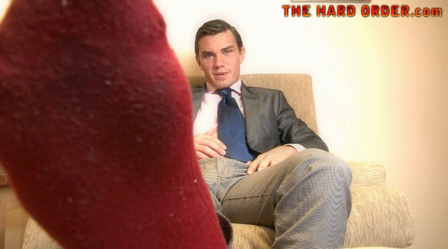 Master Harvey shows off his dirty red socks