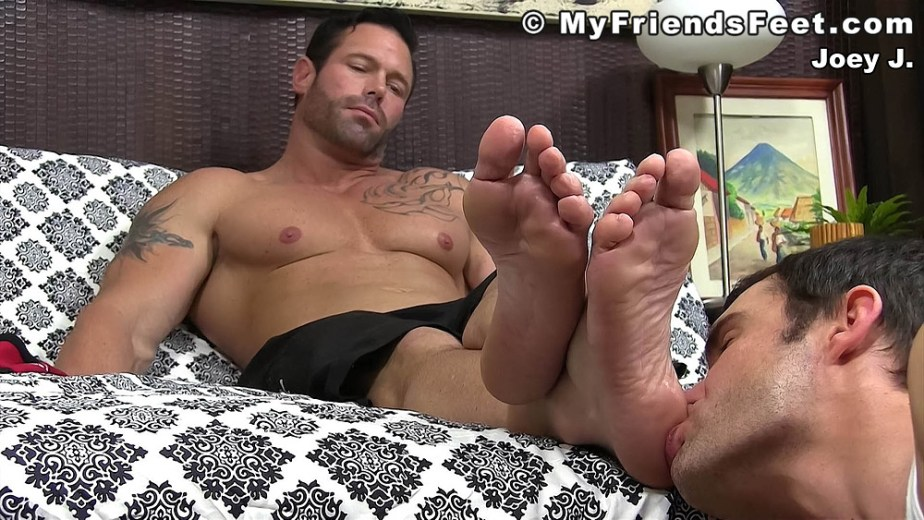 Cameron Kincade licks and sucks on Joey J's size 12 male feet - My Friends' Feet - male foot fetish porn