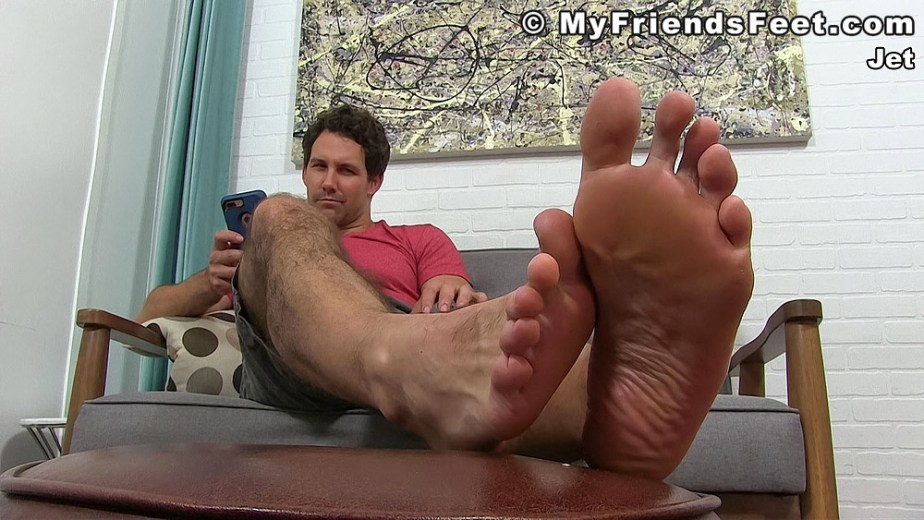 Jet shows off his size 12 bare male feet and toes - My Friends' Feet - gay foot porn