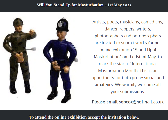 Stand Up 4 Masturbation Exhibition  May 1, 2021