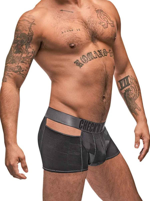 Checked Mate Cutout Short mens sexy lingerie underwear