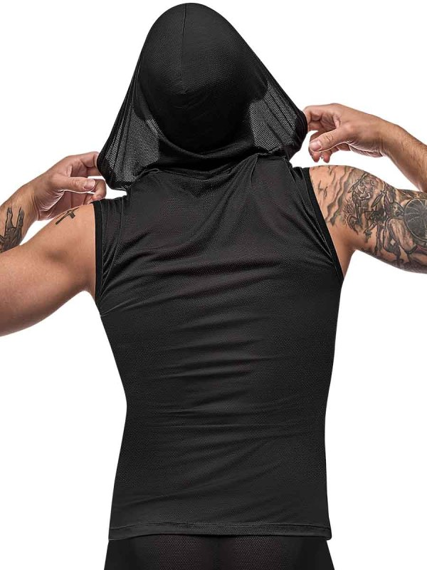 mens hoodie workout tank top mens sexy lingerie