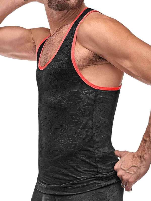 mens racer back workout tank