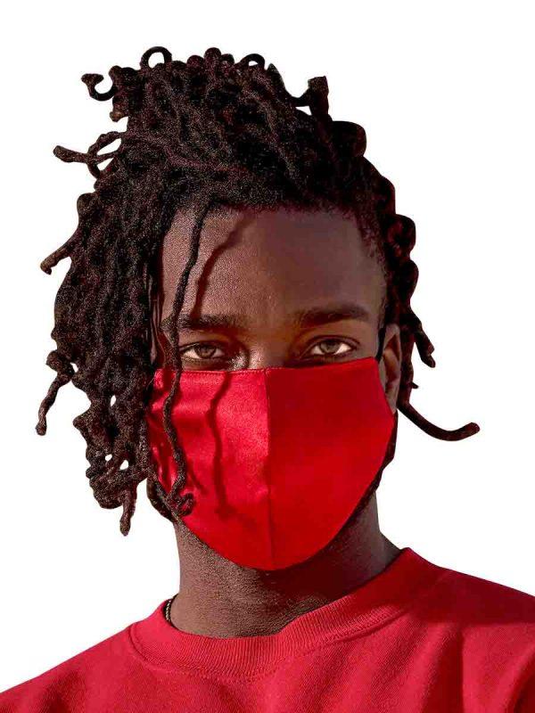 red silk face masks