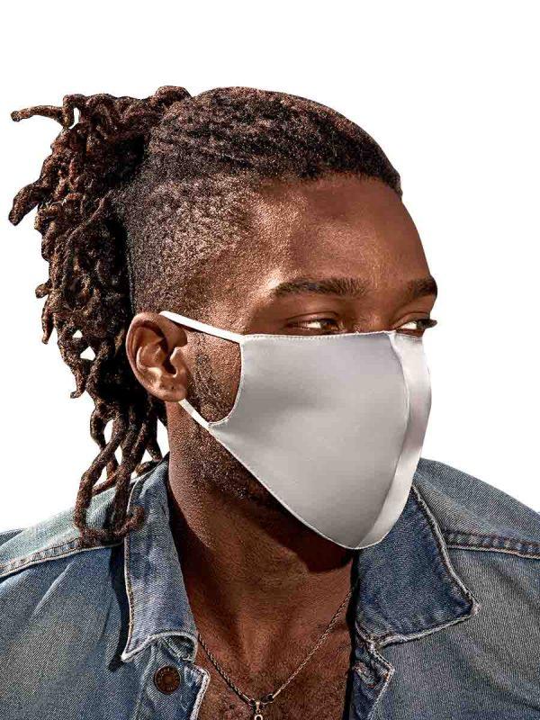 silver silk face masks