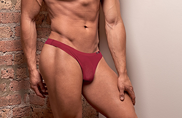 Mens Red Seamless Thong