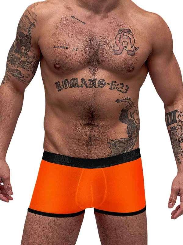 Neon Mesh Pouch Short Orange