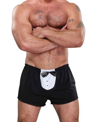 Novelty Tuxedo Boxer Black