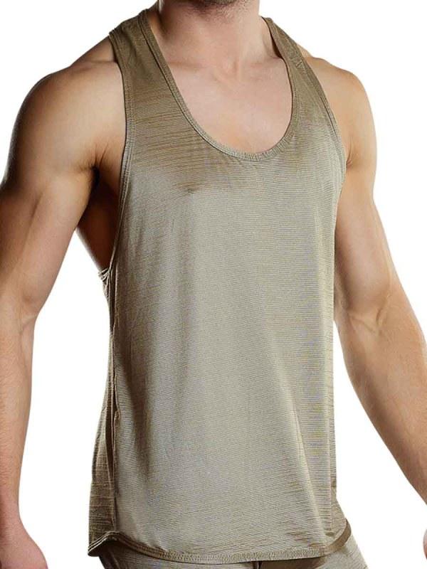 Rayon Swag Tank Top Tan