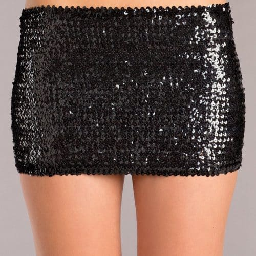 BLACK SEQUIN SKIRT LARGE