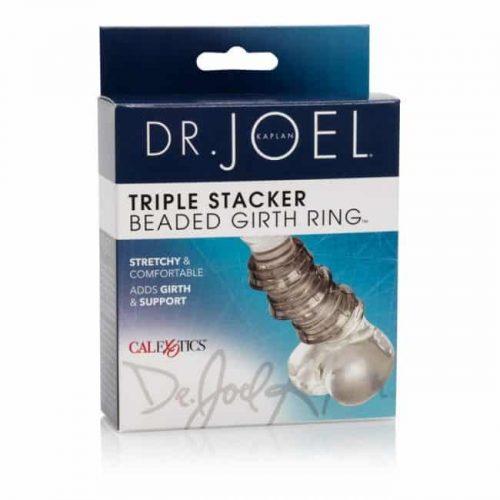 DR JOEL BEADED GIRTH RING TRIPLE STACKER