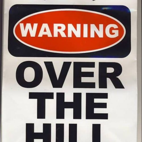 GIFT BAG WARNING OVER THE HILL