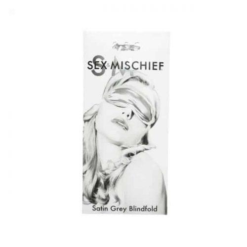 SEX & MISCHIEF GRAY SATIN BLINDFOLD