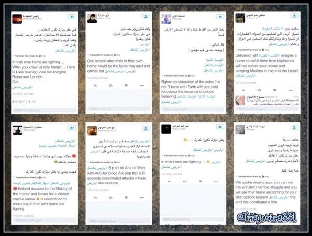 Twitter ISIS #باريس_تشتعل