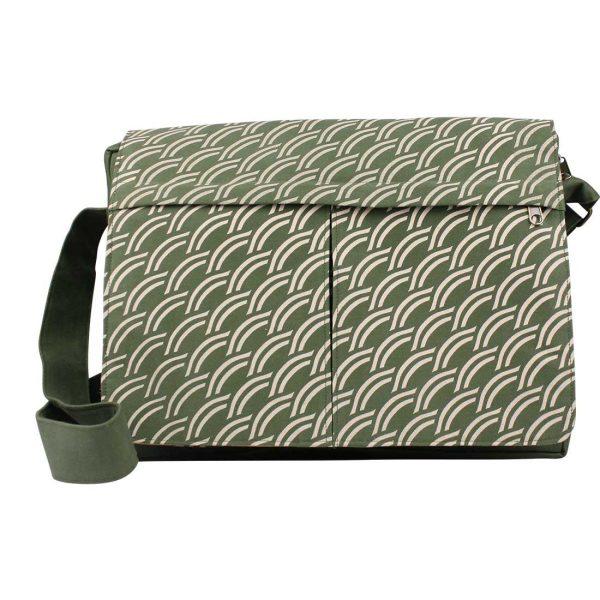 army green canvas messenger bag