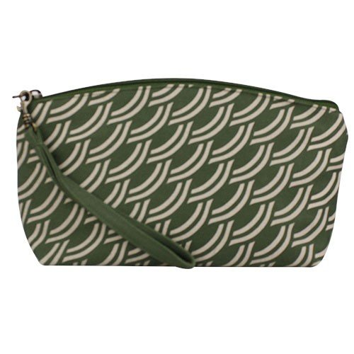 army green makeup bag