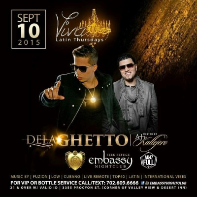 De La Ghetto - Embassy Nightclub - Las Vegas (Sep. 10) (Hosted by AJ El Kallejero)
